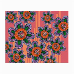 Colorful Floral Dream Small Glasses Cloth (2 Side) by DanaeStudio