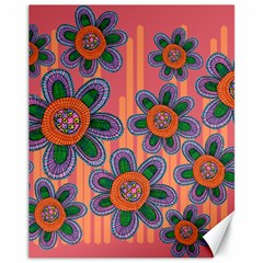 Colorful Floral Dream Canvas 11  X 14   by DanaeStudio