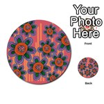 Colorful Floral Dream Multi-purpose Cards (Round)