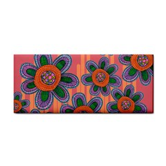 Colorful Floral Dream Hand Towel by DanaeStudio