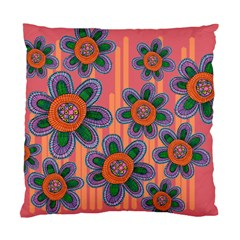 Colorful Floral Dream Standard Cushion Case (two Sides) by DanaeStudio
