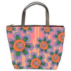 Colorful Floral Dream Bucket Bags by DanaeStudio
