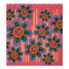 Colorful Floral Dream Shower Curtain 66  X 72  (large)  by DanaeStudio