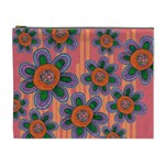 Colorful Floral Dream Cosmetic Bag (XL)