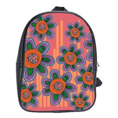 Colorful Floral Dream School Bags(large)  by DanaeStudio