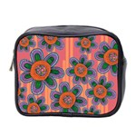Colorful Floral Dream Mini Toiletries Bag 2-Side