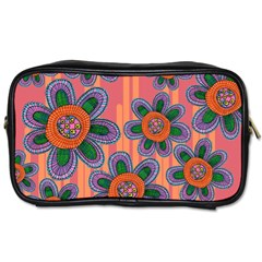 Colorful Floral Dream Toiletries Bags 2 Side by DanaeStudio