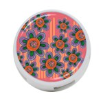 Colorful Floral Dream 4-Port USB Hub (Two Sides)