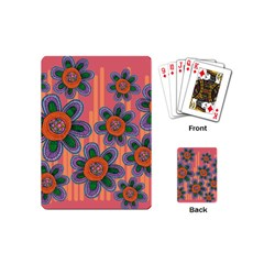 Colorful Floral Dream Playing Cards (mini)  by DanaeStudio