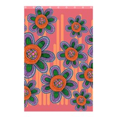 Colorful Floral Dream Shower Curtain 48  X 72  (small)  by DanaeStudio
