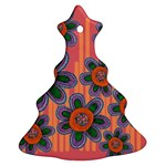 Colorful Floral Dream Christmas Tree Ornament (2 Sides)