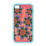 Colorful Floral Dream Apple iPhone 4 Case (Color)