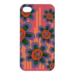 Colorful Floral Dream Apple Iphone 4/4s Hardshell Case by DanaeStudio