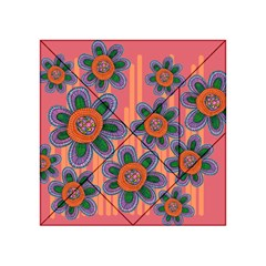 Colorful Floral Dream Acrylic Tangram Puzzle (4  X 4 ) by DanaeStudio