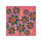 Colorful Floral Dream Acrylic Tangram Puzzle (4  x 4 )