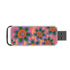 Colorful Floral Dream Portable Usb Flash (two Sides) by DanaeStudio
