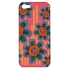 Colorful Floral Dream Apple Iphone 5 Hardshell Case by DanaeStudio