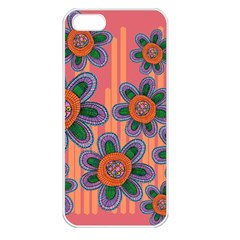 Colorful Floral Dream Apple Iphone 5 Seamless Case (white) by DanaeStudio