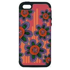 Colorful Floral Dream Apple Iphone 5 Hardshell Case (pc+silicone) by DanaeStudio