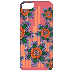 Colorful Floral Dream Apple Iphone 5 Classic Hardshell Case by DanaeStudio