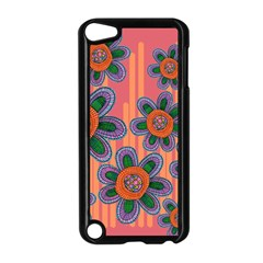 Colorful Floral Dream Apple Ipod Touch 5 Case (black) by DanaeStudio