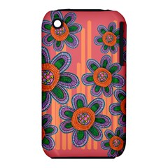 Colorful Floral Dream Apple Iphone 3g/3gs Hardshell Case (pc+silicone) by DanaeStudio