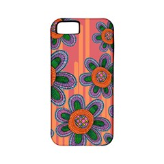 Colorful Floral Dream Apple Iphone 5 Classic Hardshell Case (pc+silicone) by DanaeStudio