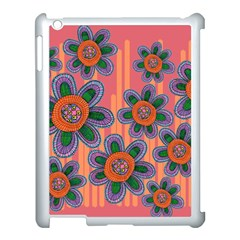 Colorful Floral Dream Apple Ipad 3/4 Case (white) by DanaeStudio