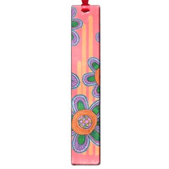 Colorful Floral Dream Large Book Marks by DanaeStudio
