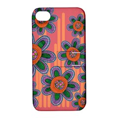 Colorful Floral Dream Apple Iphone 4/4s Hardshell Case With Stand by DanaeStudio