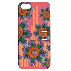 Colorful Floral Dream Apple Iphone 5 Hardshell Case With Stand by DanaeStudio
