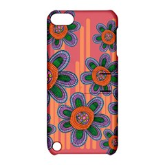 Colorful Floral Dream Apple Ipod Touch 5 Hardshell Case With Stand by DanaeStudio