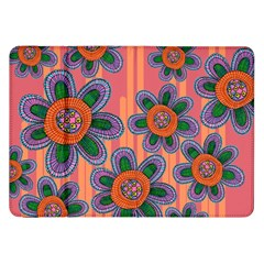 Colorful Floral Dream Samsung Galaxy Tab 8 9  P7300 Flip Case by DanaeStudio