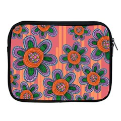 Colorful Floral Dream Apple Ipad 2/3/4 Zipper Cases by DanaeStudio