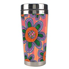 Colorful Floral Dream Stainless Steel Travel Tumblers by DanaeStudio