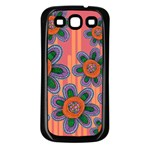 Colorful Floral Dream Samsung Galaxy S3 Back Case (Black)