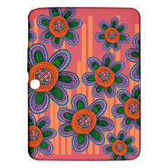 Colorful Floral Dream Samsung Galaxy Tab 3 (10 1 ) P5200 Hardshell Case  by DanaeStudio
