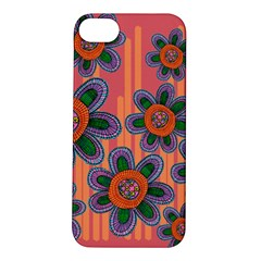 Colorful Floral Dream Apple Iphone 5s/ Se Hardshell Case by DanaeStudio