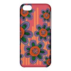 Colorful Floral Dream Apple Iphone 5c Hardshell Case by DanaeStudio