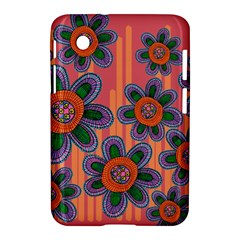 Colorful Floral Dream Samsung Galaxy Tab 2 (7 ) P3100 Hardshell Case  by DanaeStudio