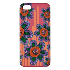 Colorful Floral Dream Iphone 5s/ Se Premium Hardshell Case by DanaeStudio