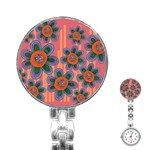 Colorful Floral Dream Stainless Steel Nurses Watch