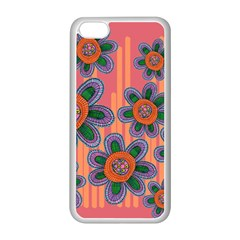 Colorful Floral Dream Apple Iphone 5c Seamless Case (white) by DanaeStudio