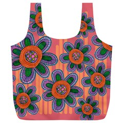 Colorful Floral Dream Full Print Recycle Bags (l)  by DanaeStudio