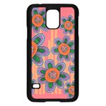 Colorful Floral Dream Samsung Galaxy S5 Case (Black)