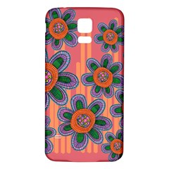 Colorful Floral Dream Samsung Galaxy S5 Back Case (white) by DanaeStudio