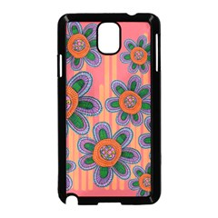 Colorful Floral Dream Samsung Galaxy Note 3 Neo Hardshell Case (black) by DanaeStudio