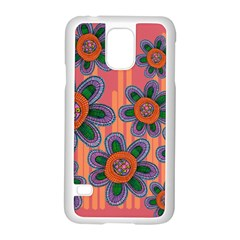 Colorful Floral Dream Samsung Galaxy S5 Case (white) by DanaeStudio