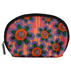 Colorful Floral Dream Accessory Pouches (large)  by DanaeStudio