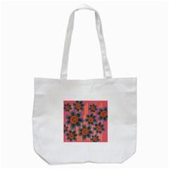 Colorful Floral Dream Tote Bag (white) by DanaeStudio